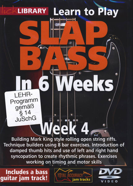 Music Sales Slap Bass In 6 Weeks - Week 4