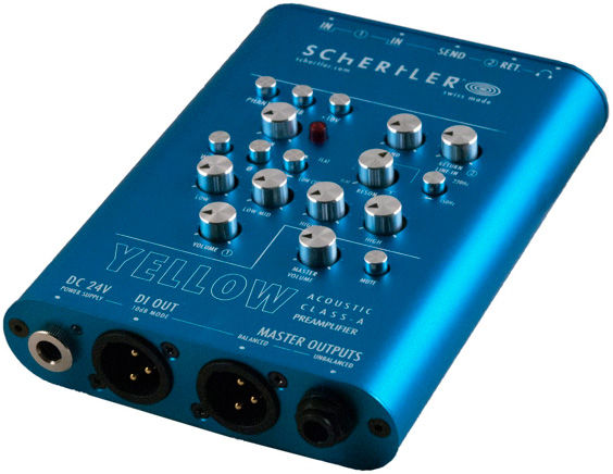 Schertler Yellow Single Pre-Amplifier