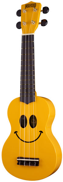 Mahalo Smiley Ukulele Yellow