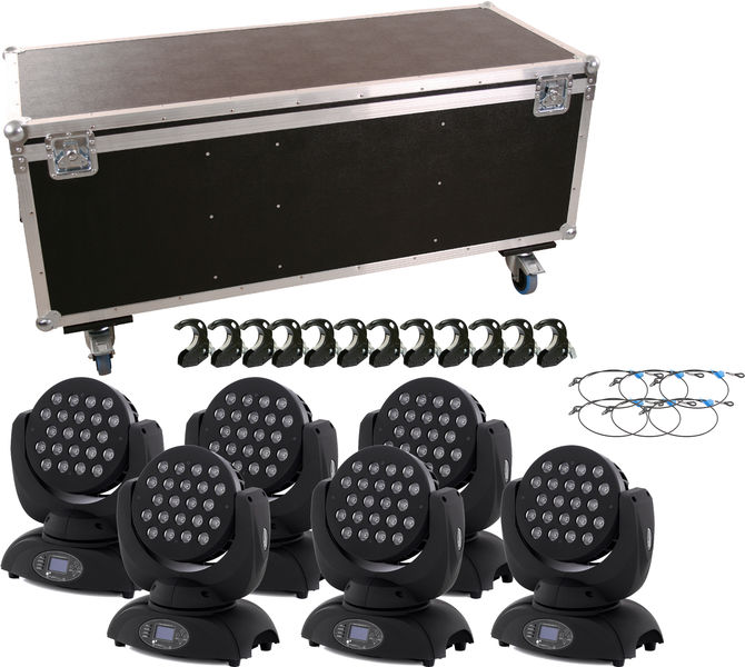 Stairville novaWash Quad LED Movin Bundle