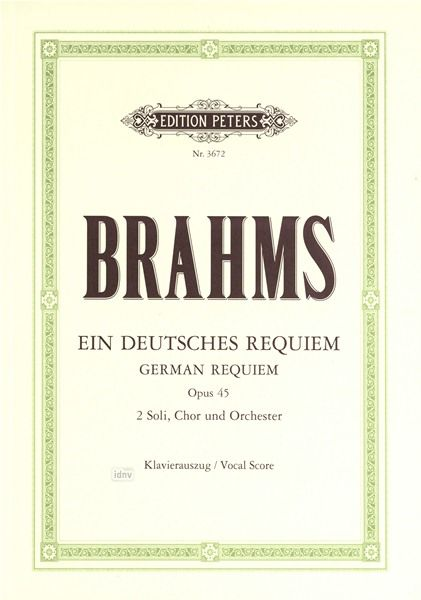 C.F. Peters Brahms German Requiem Op.45