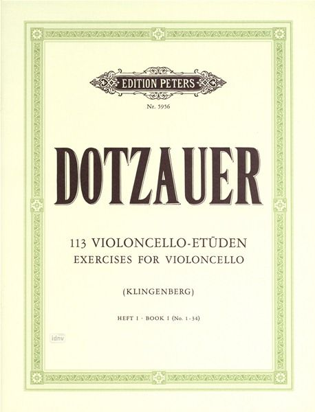 Edition Peters Dotzauer 113 Violoncello-Etüde