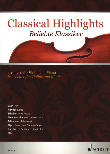 Schott Classical Highlights Violin