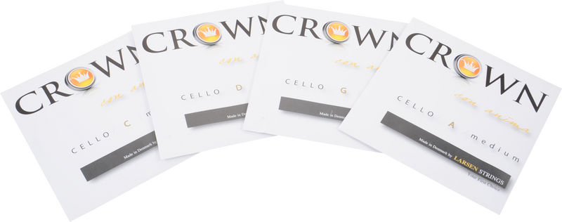 Crown By Larsen Cello Strings Set Medium 4/4