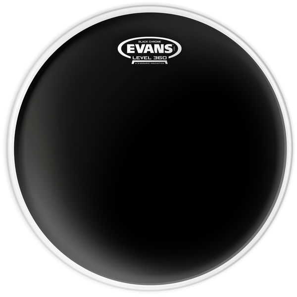 "Evans 08"" Black Chrome Tom"