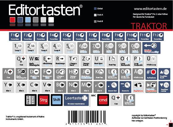 Editortasten Traktor Pro Edition
