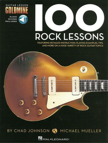 100 Rock Lessons Guitar Hal Leonard