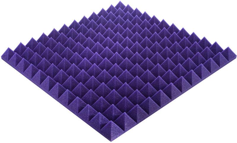 "Auralex Acoustics 2"" Studiofoam Pyramids Purple"