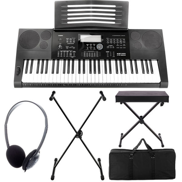 Casio CTK-6200 Deluxe Bundle