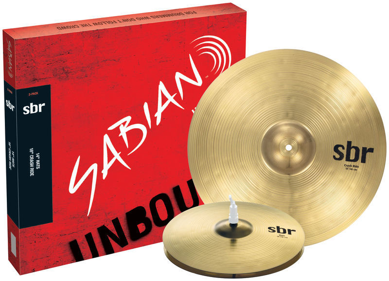 Sabian SBR Two Pack Cymbal Set