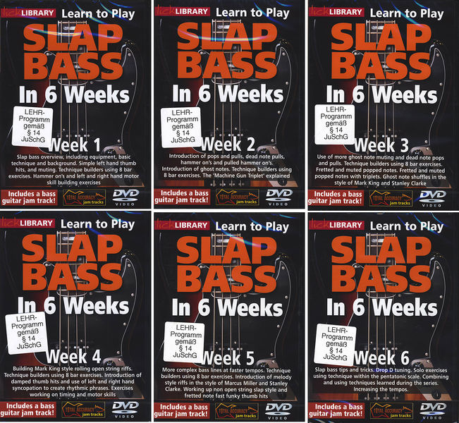 Music Sales Slap Bass Complete 1-6
