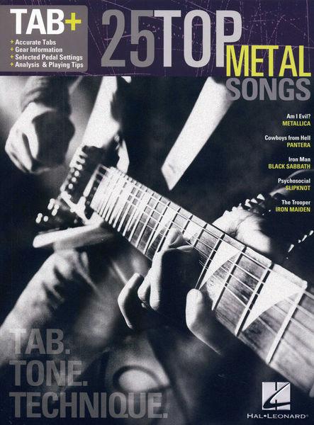 Tab+25 Top Metal Songs Hal Leonard