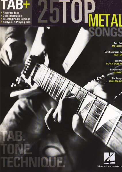 Hal Leonard Tab+25 Top Metal Songs