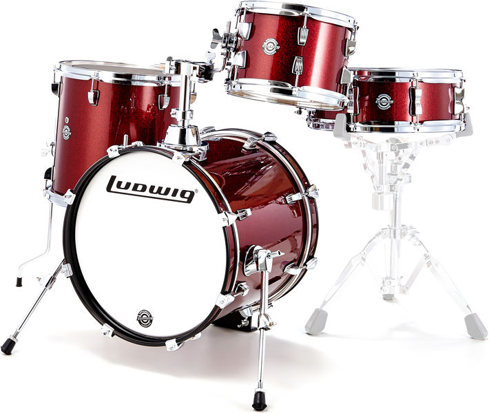 Ludwig Breakbeats Wine Red Sparkle