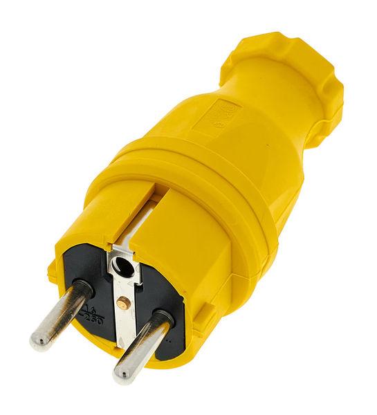 PCE Rubber Safety Plug EU Ye