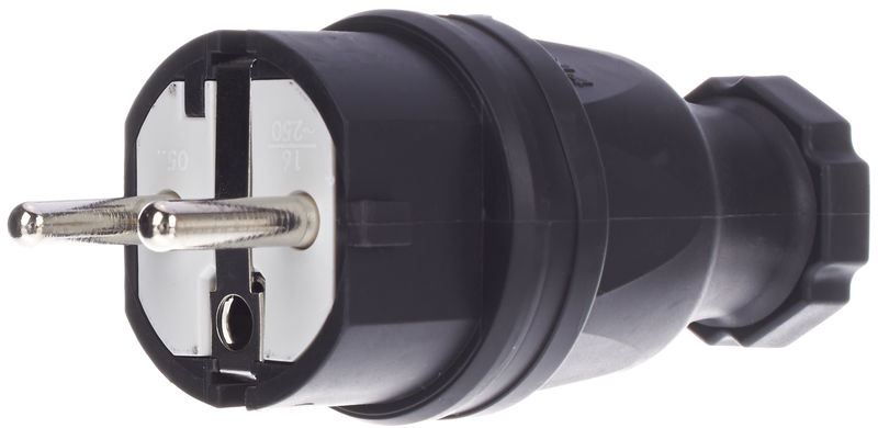 Stairville Rubber Plug EU/B/F Black