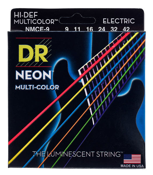 DR Strings HiDef Multi Color Neon E 9-42