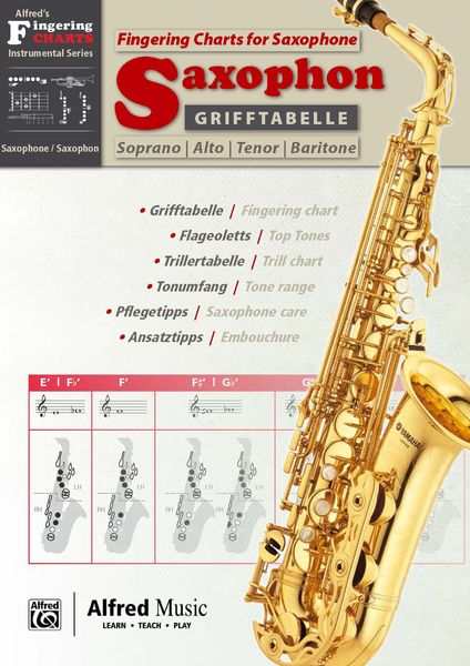 Alfred Music Publishing Fingering Chart f. Saxophone