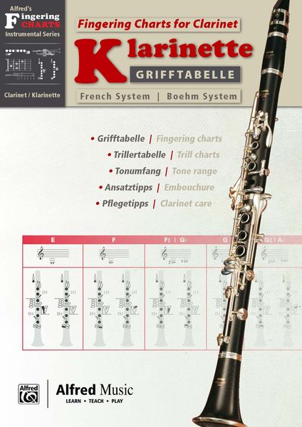 Alfred Music Publishing Fingering Chart F Clarinet B  Thomann Uk