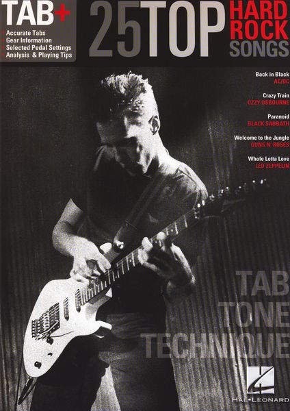 Hal Leonard Tab+25 Hard Rock Songs