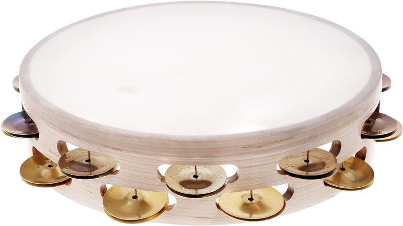 """Ron Vaughn 10"""" Tambourine T-10 + R1 comb."""