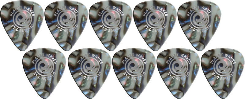 Planet Waves 1CAB4-10 Medium Abalone Picks