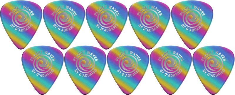 Planet Waves 1CRB2-10 Light Rainbow Picks