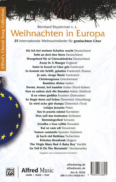 Alfred Music Publishing Weihnachten in Europa