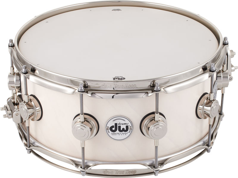 "DW Satin Oil 14""x06"" Snare White"