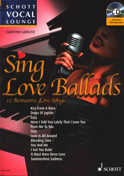 Schott Vocal Lounge Sing Love Ballads