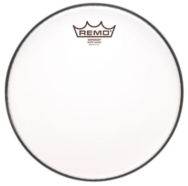 """Remo 10"""" Emperor White Suede"""