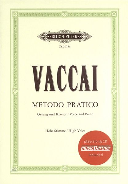 C.F. Peters Vaccai Metodo Canto High