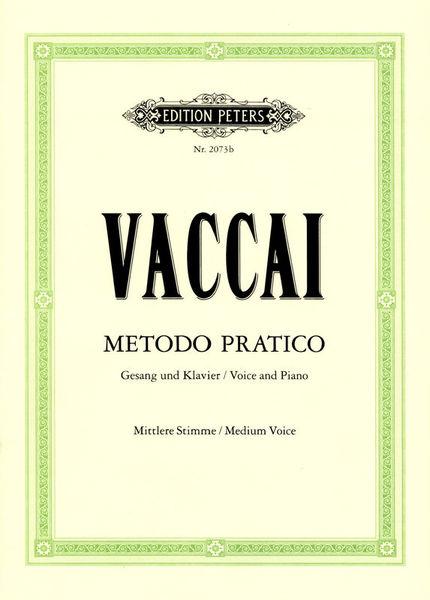 Edition Peters Vaccai Metodo Canto Medium