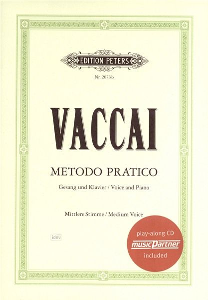 C.F. Peters Vaccai Metodo Canto Medium