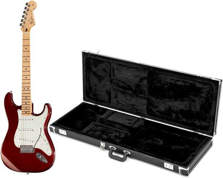 Fender Standard Strat MN CAR Bundle