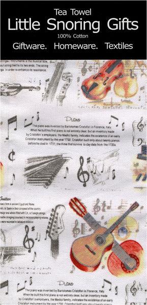 Music Sales Tea Towel Music Design