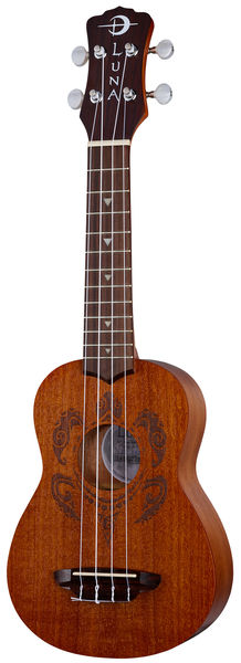 Luna Guitars Ukulele Tribal Turtle