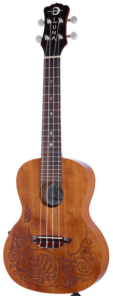 Luna Guitars Ukulele MO Mahogany Electric