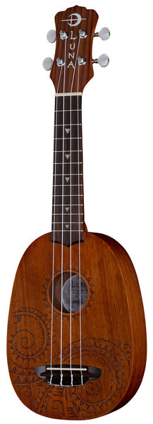 Luna Guitars Ukulele Pineapple Tattoo