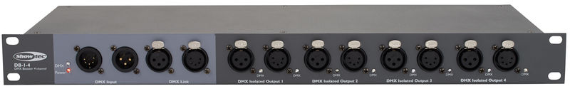 Showtec DB-1-4 DMX Booster / Splitter