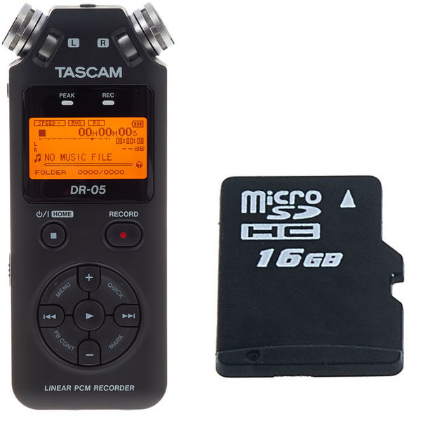 Tascam DR-05 16 GB Bundle
