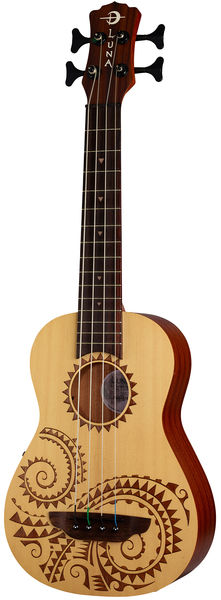 Luna Guitars Tattoo Ukulele Bass