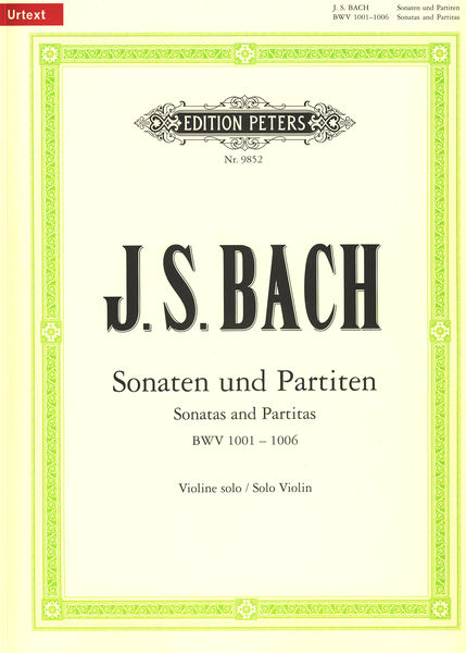 C.F. Peters Bach Sonatas Partitas Violin