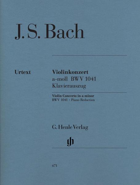 Henle Verlag Bach Violin Concerto BWV 1041