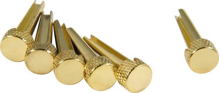 dAndrea Bridge Pins Solid Brass Flat