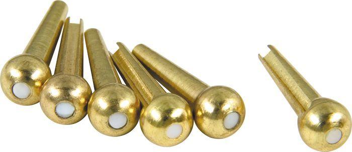 dAndrea Bridge Pins Solid Brass Trad