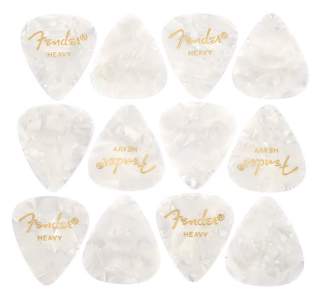 Fender White Pearloid Pick Set H