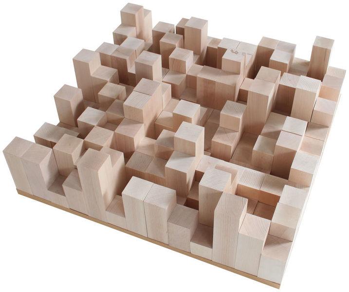the t.akustik Diffusor Manhattan wood