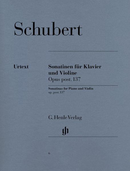 Henle Verlag Schubert Violin Sonatinas