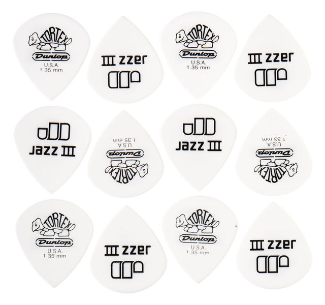 Dunlop Tortex Jazz III White 1,35
